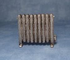 Column Radiator Antique Silver, Dolls House Miniature, Room Accessory, Rad