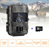 16MP 1080P Trail Hunting Camera Game Farm Wildlife Scouting Cam With 16GB Card