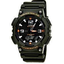 Casio Men's AQS810W-3AVCF Solar Watch with Military Green Band