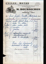 """COMMENTRY (03) GARAGE ATELIER de CYCLES & MOTOS """"M. BOURDICHON"""" en 1932"""