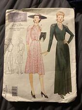 VOGUE Vintage Pattern #2371 1941 DRESS IN 2 LENGTHS DAY & EVENING 6-8-10 UNCUT