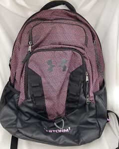 Under Armour Girls Women's Backpack Bookbag Pink Black School Athletic