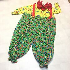 Professional Clown Costume Jumpsuit Collar Adult Unisex Plus Size Nose Tropical