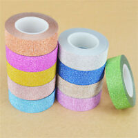 10m DIY Glitter Charm Sticky Paper Masking Adhesive Tape Label Craft Decor New H