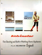 Vtg KELVINATOR Home Appliances Catalog RETRO Kitchen Range Oven Refrigerator '66