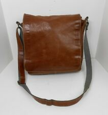 Fossil Brown Leather Messenger Bag Briefcase