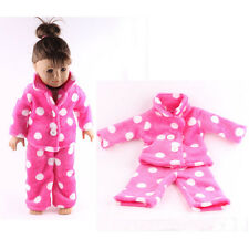 Christmas gift fashion pajamas clothes for 18inch American girl doll party b825