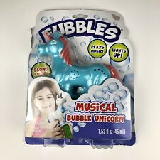 Fubbles Magical Unicorn Bubble Blower Blaster with Lights & Music PKG Dmg New