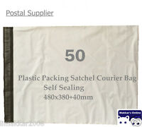 50PCS 380x480mm Plastic Satchel Courier / Shipping / Mailing Bag - Self Sealing