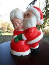 Vintage Christmas Candle- Santa Claus- Mr. And Mrs. Claus Kiss ~ 4.75� H