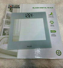 Taylor Bathroom Scale Digital Tempered Clear Glass Large Display Body Weight