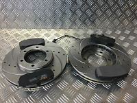 LONDON TAXI TX4 PERFORMANCE BRAKE DISCS DRILLED & GROOVED WITH BRAKE PADS