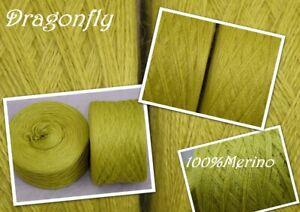 """1000 g Wolle  Strickgarn  """"Dragonfly"""" reine Wolle 3,00€/100g"""