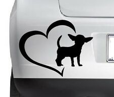 Chihuahua Dog Lowers Heart Cute Vinyl Decal Sticker Wall Car Any SmoothSurface