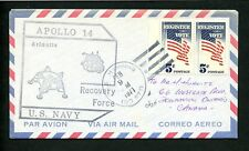 LOT 66126 USA COVER US NAVY RECOVERY FORCES SPACE APOLLO 14 USS HAWKINS
