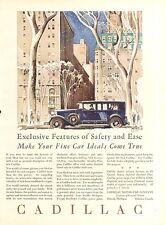 1929  CADILLAC EXCLUSIVE  CAR AD ORIG VINTAGE