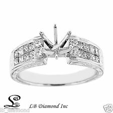 Beautiful Vintage Style Engagement Ring 1.19ct Diamonds in 18k White Gold