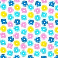 Sunburst - Bleu Rose Jaune Coton