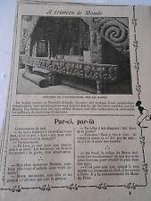 Spéciment de l'architecture chez les Maoris Image Print 1909