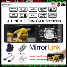 4.1'' Single 1 Din Car MP5 MP3 Player Radio BT TF FM Stereo Wheel Control