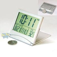 Home Digital LCD Screen Travel Alarm Clocks Desk Thermometer Timer Calendar OB