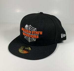 NEW ERA Golden State Warriors NBA Halloween 59Fifty Black Hat Sz 7 7/8 NEW RARE