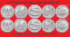 2017 America the Beautiful Quarter P & D 10 Coin Set UNC