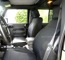 Jeep Wrangler 2007-2010 Unlimited neoprene Full Set car seat cover Black no4d