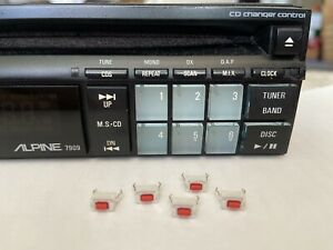 Replacement Button Switches (5pcs pkg) for Alpine 7909, 7618, 7801, 7294,  Etc.