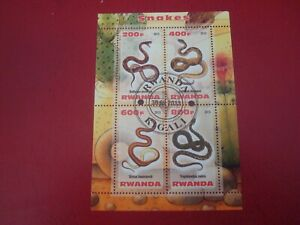 RWANDA - 2013 SNAKES - MINISHEET - UNMOUNTED USED MINIATURE SHEET
