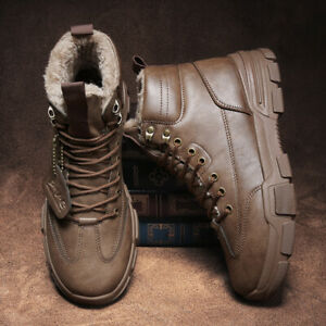 Men's Martin Boots Driving Boots PU Boots Comfort Sole Casual Shoes For Winter
