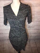Apt. 9 Heather Grey Mock Wrap Dress - Sz XS