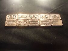 COPPER BAR 1 OUNCE BAR-BANKNOTE $1000 GROVER CLEVELAND  DESIGN LOT OF (10)-