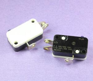 4pcs Cherry E22 Miniature Snap Action Switch, 125/250VAC, 3Amp 1/10 HP, SPDT