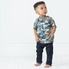 Magliette e maglie verde senza marca per bambini dai 2 ai 16 anni 100% Cotone