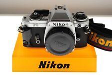 Nikon FG chrome program/auto/manual SLR. EXC++ condition. +strap. Tiny F mount!