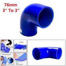 "3"" To 3"" 76mm Silicone 90° Elbow Reducer Turbo Pipe Intake Piping Hose Adapter"