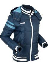 Winterjacke m Kapuze Gr. 44 Dunkelblau Damen-Jacke Outdoorjacke Kurz-Mantel Neu