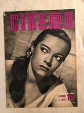 RIVISTA CINEMA 79 2/1952 COPERTINA KERIMA PEGGY DOW ZAVATTINI FILM IDEX CAMERINI