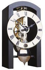 Jolie pendule à poser squelette mécanique noire design moderne HERMLE23015 NEUVE