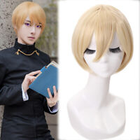 Kaguyasama Love is War Shirogane Miyuki Cosplay Wig Short Straight Blonde Wigs