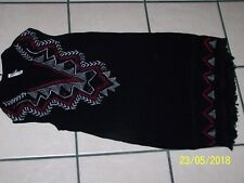 Xhilaration brand black embroidered a-line sleeveless tunic sz M 100% nylon
