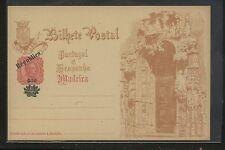 Portugal      Madeira   postal  card   revalued       KL0716