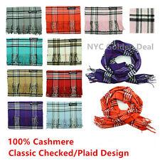 Wholesale Lot 100% CASHMERE Wool Tartan Scarf Scotland CHECKED PLAID Super Warm