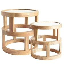 Arlo Side Table Elm Wood Set of 2 Coffee Table