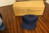 NOS U.S. Navy USN 70's 80's Blue utility cap sz. 7 dungaree ballcap hat