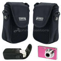 Outdoor Black Soft Compact Digital-Camera Pouch Style Case Cover Portable Bag x1