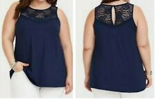 3ddbd139575 Torrid Super Soft Navy Lace Tank 1x 14 16  85544