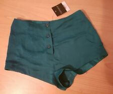 Topshop Polyester Patternless Hot Pants Shorts for Women