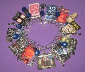 Temperance Brennan Novels- - Altered Art Charm Bracelet-Handmade-OOAK